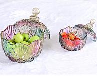 碧丽 炫彩钻石带盖玻璃糖果罐