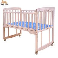 可多用!Kindbear康贝儿 实木环保无油漆婴儿摇篮床(A裸床款)
