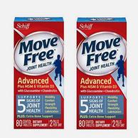 美亚销量第一!Schiff Move Free 氨基葡萄糖 维骨力关节养护素 蓝色款 80片*2瓶