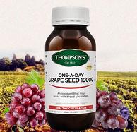 美白淡斑抗衰老,Thompson's 汤普森 葡萄籽胶囊 19000mg 180粒