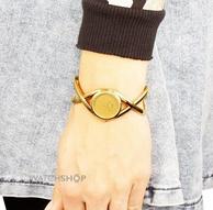 新低:Calvin Klein 女士镀黄金时装手表K2L23509