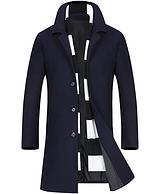 南极人 中长款羊毛呢子大衣商务毛呢外套