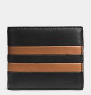 Coach 蔻驰 男士钱包 带证件夹 黑棕色 89.99美元约¥618(国内2300元)