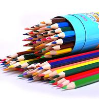 得力 7012原木彩色铅笔12色