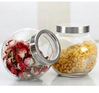 爱乐优 厨房玻璃储物罐200ml*4只装
