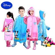迪士尼 儿童卡通雨衣带书包位