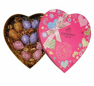 GODIVA 歌帝梵 巧克力 挚爱恋心 12颗*2盒装