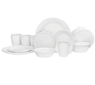 餐具艺术品,Corelle美国康宁 白色餐具20件套