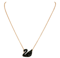 SWAROVSKI施华洛世奇 Iconic Swan 5204134 大号 黑天鹅项链