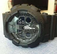 够大、够黑、够粗!CASIO 卡西欧 G-SHOCK系列 GA-100-1A1手表 新低速抢55美元约¥377(天猫774元)