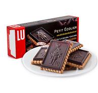 法国进口:LU露怡 特浓70%可可黑巧克力饼干150g*5