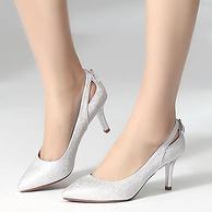 珂卡芙 韩版女士尖头高跟鞋 2色