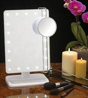 新低:Jerdon 带LED灯可调台式化妆镜