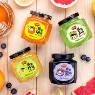 福事多 柚子+柠檬+芦荟+蓝莓茶 240g*4瓶 券后 32元包邮