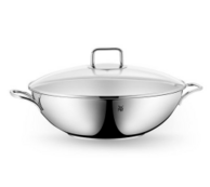 镇店之宝,WMF 完美福 不锈钢中式炒锅32cm 含玻璃锅盖