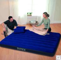 INTEX 深蓝灯心绒双人充气床 152×203cm + 凑单品