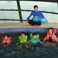 泳乐宝夏季儿童背心式游泳圈