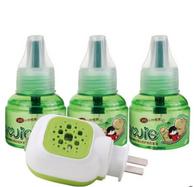 皎洁 电热蚊香液3瓶套装+送加热器