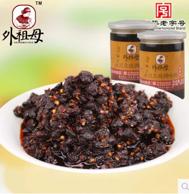 中华老字号,国家非物质文化遗产 外祖母永川香辣豆豉 250g*2罐