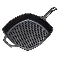 美国进口:Lodge洛奇 27cm无涂层铸铁平底横纹方形煎锅