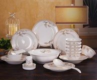 景德镇釉上彩,成琳 天鹅湖系列 28头餐具套装