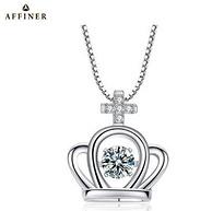 AFFINER 阿菲娜 AFP2068 施华洛世奇锆石 为爱加冕 小皇冠项链