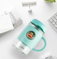Paul Frank 大嘴猴 420ml高硼硅带盖玻璃杯 59元包邮 送大嘴猴马克杯1个及可拆卸杯刷(其他渠道98元)
