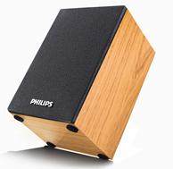 飞利浦 木质桌面音箱 SPA20 两个