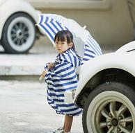 送59元儿童雨伞!网易严选 儿童海军小斗篷雨衣