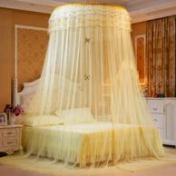 格桑花 圓吊頂家用免安裝加密加厚蚊帳 1.5米