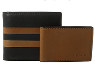 Coach蔻驰 Modern Varsity Stripe Compact ID 男士钱包 63.99美元约¥442(原价195美元)