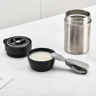 网易严选 不锈钢砂光焖烧杯400ml  配折叠叉勺