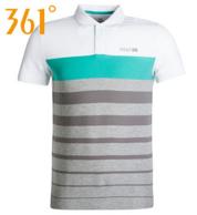 361° 男士时尚撞色条纹Polo衫 49元包邮