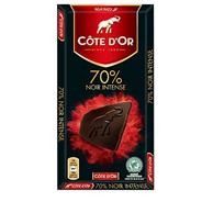 Prime会员免运费!Cote D'or克特多金象70%可可黑巧克力100g