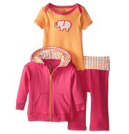反季特价!Yoga Sprout 美国熊宝宝女纯棉3件套装