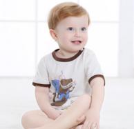 北极绒 夏季儿童纯棉薄款套装