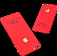 秒变中国红!买1送3,苹果6/7P全覆盖彩膜钢化膜
