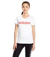 限Prime会员,adidas 阿迪达斯 全线男女装下单5折 女士纯棉短袖T恤 64.5元包邮