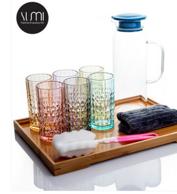卢米 彩色玻璃杯 6件套 250ml