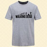 walking dead 男士圆领印花短袖T恤 5.9元包邮