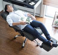 睡眠型躺椅!SANWA SUPPLY 山业EEX-CH8皮质人体工程学座椅