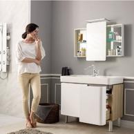 Prime会员:KOHLER 科勒 希尔维浴室柜 包含龙头和镜柜