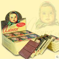 俄罗斯进口,Alenka 爱莲巧 大头娃娃 原味牛奶巧克力630g