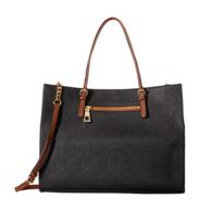 Calvin Klein Key Items Tote 女士真皮手提包 74.99美元约¥507(原价198美元)