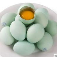 菜源农场 农家新鲜散养绿壳鸡蛋30枚