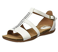 Clarks其乐 Autumn Fresh 女士真皮罗马凉鞋 白色 直邮含税到手约306元(天猫类似款800+)