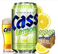 CASS凯狮 柠檬味啤酒 355ml*24罐 凑单满减56元/件(天猫135元)