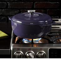 美亚销量第一!Lodge 洛奇 搪瓷铸铁锅 紫色 6夸脱