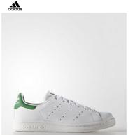 adidas Originals 三叶草 Stan Smith 女士绿尾小白鞋
