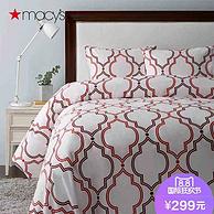 500支密度!Macy's 梅西百货 Charter Club 欧式皮马棉床上用品三件套